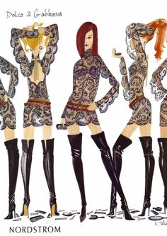 Image detail for -... vogue october 2001 issue illustration by ruben toledo scanned by me