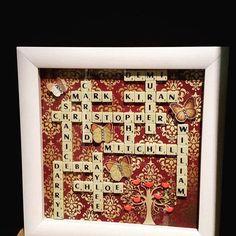 Fabulous gift ideas for grandparents parents grandparents made with scrabble tiles negle Choice Image