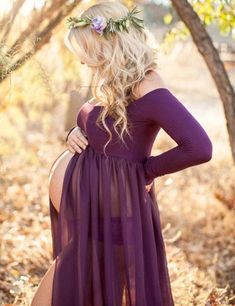 Fashion Maternity Photography Props Pregnant Dresses Maternity photography…