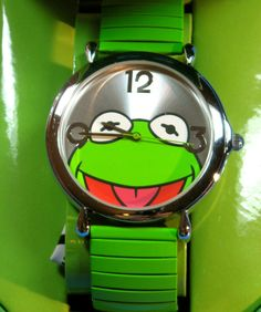 Kermit the Frog Watch with Expansion Expandable Band Muppets Fraggle Rock, Kermit The Frog, The Dark Crystal, Frog And Toad, Jim Henson, Shades Of Green, Froggy Stuff, Youth, Bling