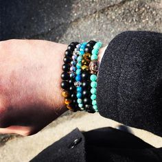 New Reign Co.  Stack it up!  www.newreignco.com http://ift.tt/2ljDkKI  #newreignco #sale #beadedbracelets #bracelets #getyourstoday #beads #style #fashion #mensfashion #womensfashion #designer #stretchbracelets #accessories #womensaccessories #boston #jewelry #shop #beadedjewelry #menwithstyle #handmade #madeintheusa #buddha #etsy #etsyshop #stacksonstacks