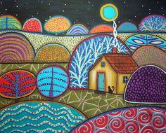 Interlude by Karla Gerard Canvas Art Prints, Fine Art Prints, Framed Prints, Framed Canvas, Fantasy Paintings, Fantasy Art, Karla Gerard, Pottery Painting Designs, Cottage Art