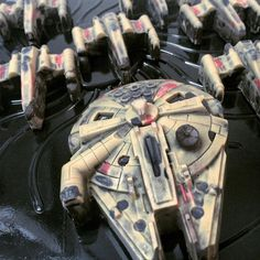 Hand-painted Chocolate Millenium Falcon & by JonGoodChocolates
