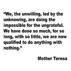 Mother Teresa Qualified Quote Poster