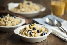 Lemon Scented Quinoa and Millet Breakfast with Blueberries | Choosing ...
