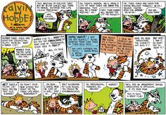 Calvin and Hobbes, G.R.O.S.S. - On today's agenda, we'll make a list of what girls are GOOD for. Obviously, this will be a short meeting! Ha! ...First tiger Hobbes will record the list for posterity! OK, first, girls are good for water balloon targets! Ha ha! Second, they're good for NOTHING! Ha ha ha! ...Hee hee, slow down! ...Number three, girls are good for colonizing Pluto! Ah ha ha! What a great list! ...Number four, they're good for smooching! Hoo hoo! ...Number five is... WHAT?!?