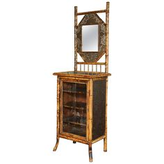 19th Century English Japonisme Bamboo Side Cabinet | From a unique collection of antique and modern cabinets at https://www.1stdibs.com/furniture/storage-case-pieces/cabinets/