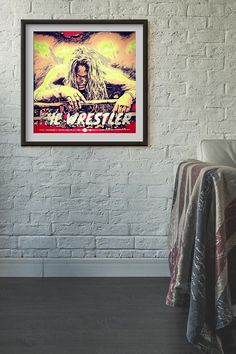 Items similar to The Wrestler Wall Art, Digital, Unique Jewelry, Handmade Gifts, Artwork, Movies, Painting, Etsy, Vintage