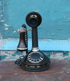 Vintage Candlestick Telephone Rotary Phone Made in от OldBox, $60.00