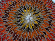 Gazania Mosaic Mandala Center by Nutmeg Designs, via Flickr