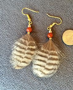 #wildermans handmade #woodcock #featherearrings #etsy https://www.etsy.com/listing/477248710/small-brown-and-tan-woodcock-plumage