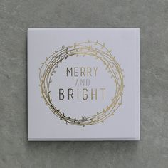 Merry and Bright / Gold Foil Design Christmas Card / {Corporate Christmas + Wholesale Available} by UrbanPaddock