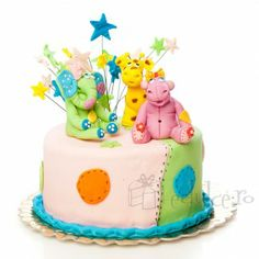 Veselie maxima! Un hipopotam, o girafa si un elefantel! Birthday Cake, Desserts, Food, Tailgate Desserts, Deserts, Birthday Cakes, Essen, Postres, Meals
