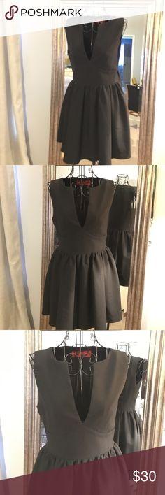 """Akira Chicago little black dress Akira Chicago little back dress. V neck.  31"""" from shoulder. 27/27 waist.  16"""" bust AKIRA Dresses Mini"""