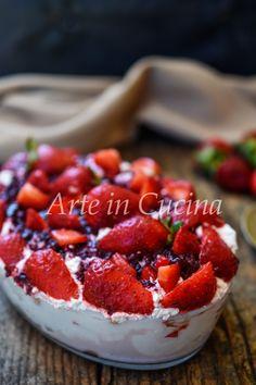 FRAGOLOSO CON BISCOTTI E YOGURT dolce leggero, VELOCE, fresco e CREMOSO