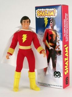 My pal Steve made this awesome Jackson Bostwick Shazam! custom using some Mego parts and a Brick doll.