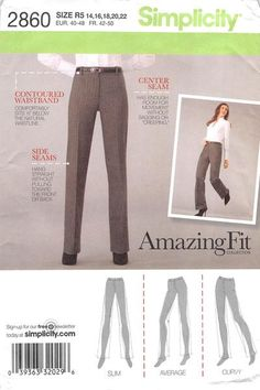 SIMPLICITY 2806 - FROM 2008 - UNCUT - MISSES PETITE TROUSERS
