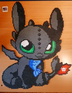 Chibi Toothless - HTTYD Hama Beads by Nidoran4886