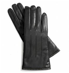 Coach Touch-Screen Leather Gloves -- gorgeous!