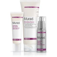 Our Anti-Aging Age Reform® Day Regimen gets a makeover! Includes: Step 1 Refreshing Cleanser, Step 2 Complete Reform and Step 3 Perfecting Day Cream SPF 30. Why you need it: Firms, exfoliates and cleanses to provides softer, smoother skin day and night. Primary benefits: Hydrates to leave skin soft. Restores suppleness and softens lines.