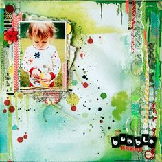 Moments of Inspiration: Bubble Maker Scrapbook Page Layouts, Scrapbook Albums, Scrapbook Cards, Mixed Media Scrapbooking, Scrapbooking Ideas, Bubble Maker, Paper Tags, Altered Art, Paintings