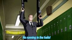 "ajacquelineofalltrades: ""No running in the halls!"" Ladies and gentlemen, Principal Phil Coulson.>>> did anyone else think ""well played Disney"" cause he's the mr moseby of this show. Phil Coulson, Marvel Cartoons, Marvel Movies, Marvel Ultimate Spider Man, Arte Nerd, Marvel Fan, Amazing Spider, Superwholock, Marvel Universe"