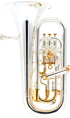 "Thomann EP 904 GP Bb-Euphonium, model ""Superior"", 4 perinet vlaves (3+1), dual bore 15,00mm- 16,80mm (0.590""- 0.661""), brass thomann body"