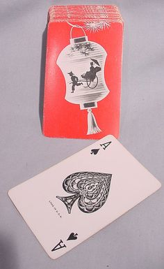 Vintage playing cards. Politically incorrect, but love the illustration.