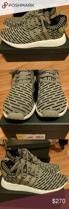 NEW MEN ADIDAS NMD R2 PRIME KNIT OLIVE SIZE 11 Newest colorway for adidas men NMD, sold out everywhere! Men size 11 Deadstock. 100% authentic. Will be shipped with original box and protection box. No trades. Price is firm. No returns for incorrect size, size is as described in description Check out my account for more shoes and sizes! Tags:Adidas, Jordan, Nike, retro, boost, Yeezy, ultra boost, prime knit, supreme, make up, contacts Adidas Shoes