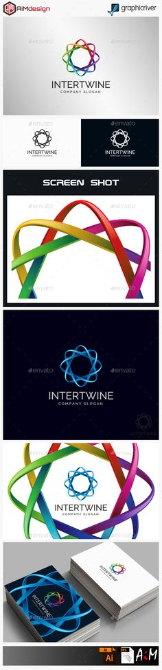 Intertwine - Connection Logo — Vector EPS #professional #corporate • Available here → https://graphicriver.net/item/intertwine-connection-logo/15531270?ref=pxcr