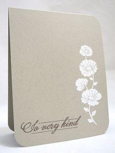 So Very Kind by Jennifer Ingle.  Love the white on kraft.