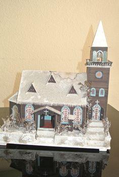 * Altes Lichterhaus - Kirche - Erzgebirge ca.1940 *(4) in Antiquitäten & Kunst, Volkskunst, Erzgebirge   eBay