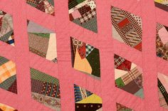 Contained Cotton Crazy Quilt: Ca. 1880: Pennsylvania