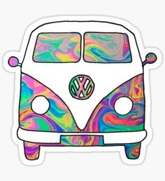 Pegatina Groovy Bus