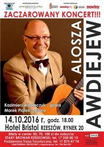 Alosza Awdiejew koncert whotelu Bristol wRzeszowie