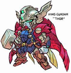 Gundam x Marvel Superheroes Crossover Fan Arts | The Design ...