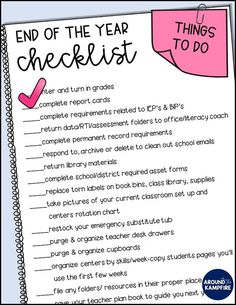 Get smart organization tips for packing up your classroom that make set up next year a snap! Download the free end of year checklist for teachers to help.