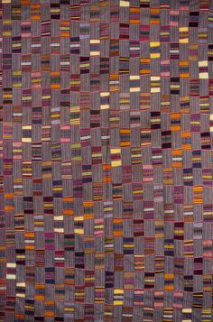 Africa | Details from a strip woven cloth from the Ewe people of Togo | Cotton, locally woven and dyed