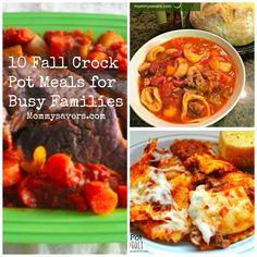 10 Fall Crock Pot Meals for Busy Families Fall Crockpot Recipes, Frugal Recipes, Frugal Meals, Slow Cooker Recipes, Crock Pot Freezer, Crock Pot Cooking, Freezer Meals, Your Recipe, Cravings