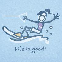 Jackie Waterski... lake days...#Lifeisgood #Dowhatyoulike