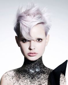2015 lilac pixie crop with fringe Fringe Hairstyles, Funky Hairstyles, Saco Hair, Short Hair Cuts, Short Hair Styles, Color Fantasia, Editorial Hair, Fantasy Hair, Hair Reference