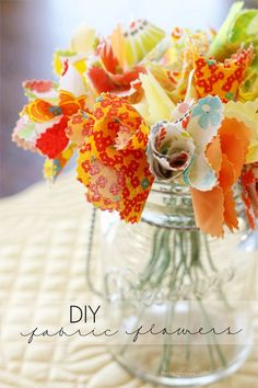 19. DIY Fabric Flowers at Live, Laugh, Rowe