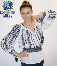 Folk Embroidery, Linen Fabric, Hand Stitching, Style Me, Fashion Accessories, Bell Sleeve Top, Long Sleeve, Abs, Outfits