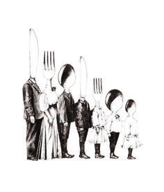 family portraits - ne parle pas français : illustration by carolyn alexander