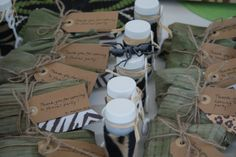 Favours for our jungle themed party