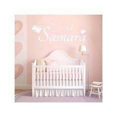 Vinilos decorativos con nombre Samara con tipografía de estilo disney y estrellitas para decoración de paredes. Pegatinas para paredes con el nombre Samara.