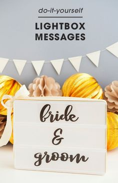 Love these light boxes they work well for any event and great for a wedding. Learn how to print your own custom sayings for the Heidi Swapp Lightbox!