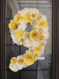 DIY birthday wreath