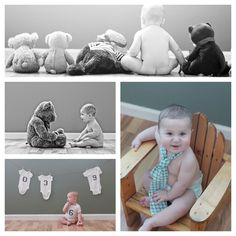 6 month baby picture ideas | months | ten13photography--I Love the Teddy Bear One!!!!