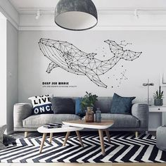 Sea Whale Wall Decals Decorate your home with this Sea Whale Wall Decals. Wall Sticker Design, Wall Stickers Home Decor, Wall Design, Wall Decals, Bedroom Murals, Home Decor Bedroom, Living Room Decor, Living Rooms, Tree Wall Murals